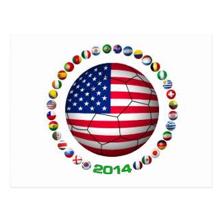 USA Soccer  5332 Postcard