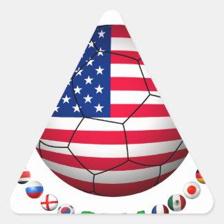 USA Soccer  5332 Triangle Sticker