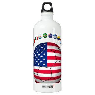 USA Soccer  5545 Aluminum Water Bottle