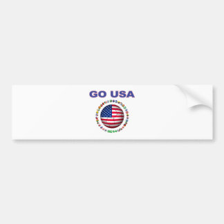 USA Soccer  5545 Bumper Sticker