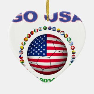 USA Soccer  5545 Ceramic Ornament