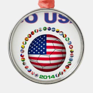USA Soccer  5545 Metal Ornament