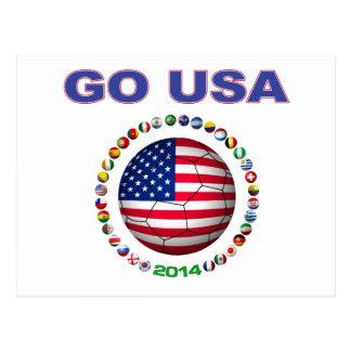 USA Soccer  5545 Postcard