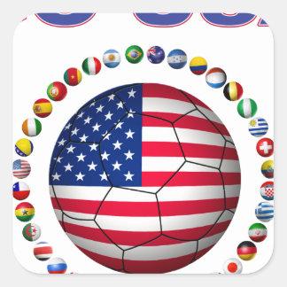 USA Soccer  5545 Square Sticker
