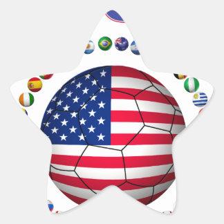 USA Soccer  5545 Star Sticker