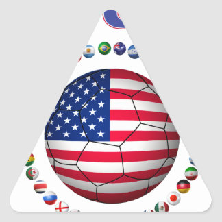 USA Soccer  5545 Triangle Sticker
