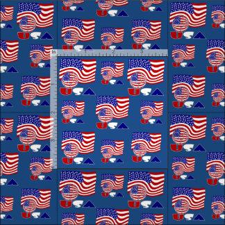 USA Soccer Ball and Flag Fabric