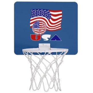 USA Soccer Ball and Flag