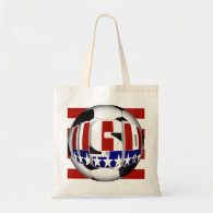 USA Soccer Ball Budget Tote Bag
