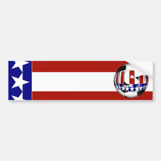 USA Soccer Ball Bumper Stickers