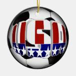 USA Soccer Ball Christmas Tree Ornaments