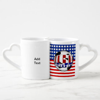 USA Soccer Ball Coffee Mug Set