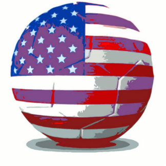 USA Soccer Ball Cutout