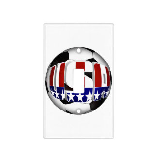 USA Soccer Ball Light Switch Covers