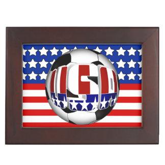 USA Soccer Ball Memory Box