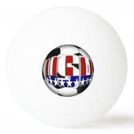 USA Soccer Ball Ping Pong Ball
