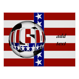 USA Soccer Ball Poster