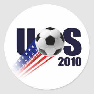 USA Soccer ball US faded artwork t-shirts & Gifts Classic Round Sticker
