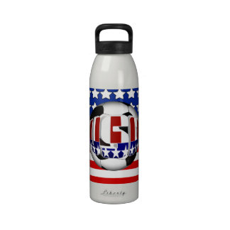 USA Soccer Ball Water Bottle