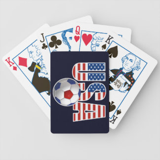 USA Soccer Bicycle Playing Cards