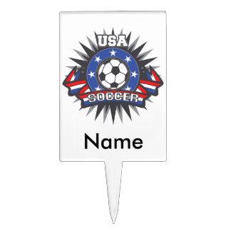 USA Soccer Cake Topper