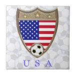 USA Soccer Ceramic Tiles