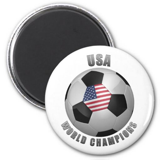 USA SOCCER CHAMPIONS 2 INCH ROUND MAGNET
