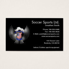 Usa Soccer Champions Business Card at Zazzle