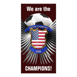 USA Soccer Champions Picture Card