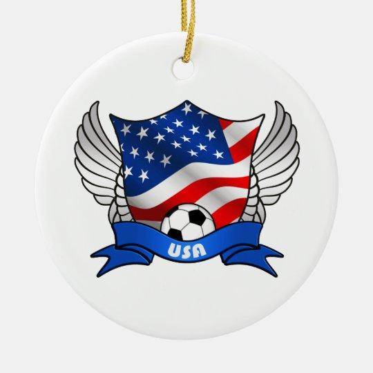 USA Soccer Circle Ornament