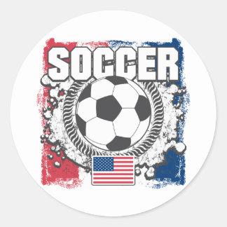 USA Soccer Classic Round Sticker