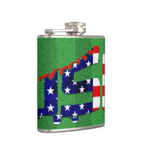 USA Soccer Cleat Design Hip Flask