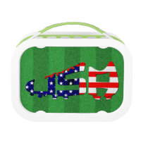 USA Soccer Cleat Design Lunch Box