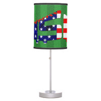 USA Soccer Cleat Design Table Lamp