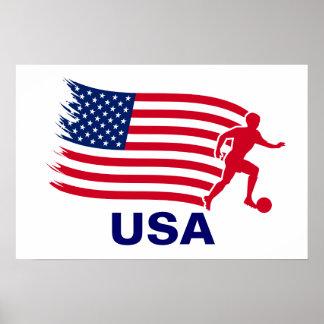 USA Soccer Flag Poster