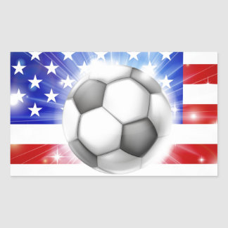 USA soccer flag Rectangle Stickers