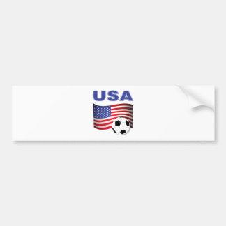 usa soccer football bumper sticker