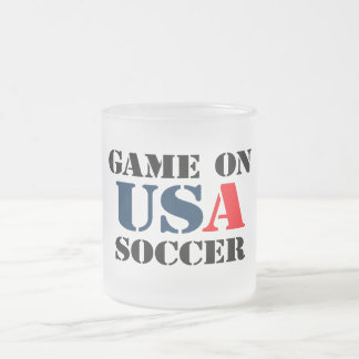 USA Soccer Frosted Glass Coffee Mug