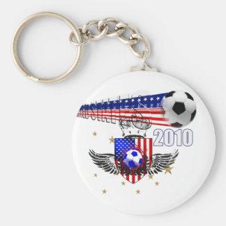 USA Soccer fun Basic Round Button Keychain