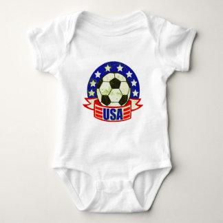 USA Soccer Futbol Baby Bodysuit