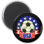 USA Soccer Futbol Fridge Magnet