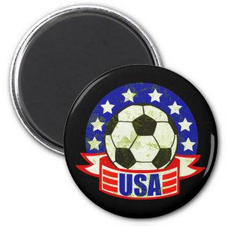 USA Soccer Futbol 2 Inch Round Magnet