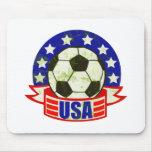 USA Soccer Futbol Mouse Pad
