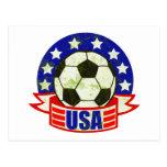 USA Soccer Futbol Postcard