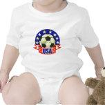 USA Soccer Futbol Rompers