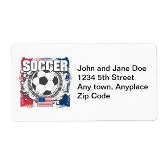 USA Soccer Label