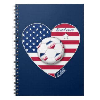 USA Soccer National Team Fútbol de Estados Unidos Libreta