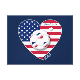 USA Soccer National Team Fútbol de Estados Unidos Impresiones En Lienzo Estiradas