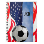 USA Soccer Notebook with your Monogram