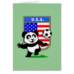 Greeting Card with USA Soccer Panda design
